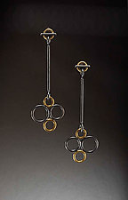 Bubble Drop Earrings by Ben Neubauer (Silver & Glass Earrings)