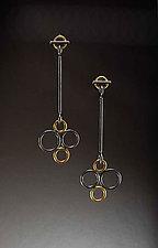 Bubble Drop Earrings by Ben Neubauer (Silver & Glass Earrings)