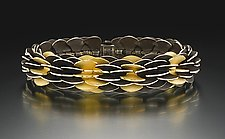 Black Pangolin by Samantha Freeman (Silver & Gold Bracelet)