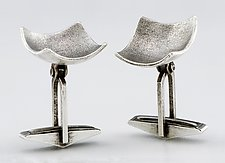 Jester Cuff Links by Sarah Mann (Silver Cuff Links)