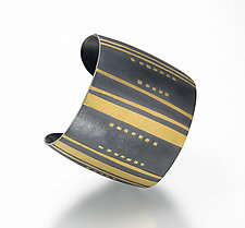 Gateway III by Lisa Ceccorulli (Silver & Gold Cuff)