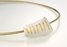 Random Sticks Pendant by Tom McGurrin (Silver & Gold Pendant)