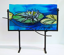 Lilies on Parade by Alice Benvie Gebhart (Art Glass Sculpture)