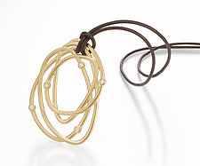 Scribble Tangle Diamond Pendant by Dana Melnick (Gold & Stone Pendant)