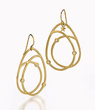 Scribble Twirl Earrings by Dana Melnick (Gold & Stone Earrings)