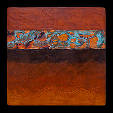 Canyon Walls: OBO 12x12 by Kara Young (Mixed-Media Wall Hanging)