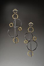 Bubbles Earrings by Ben Neubauer (Silver & Gold Earrings)
