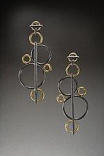 Bubbles Earrings by Ben Neubauer (Silver & Gold Earrings)