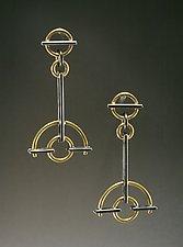 Semi-Circle Earrings by Ben Neubauer (Silver & Gold Earrings)