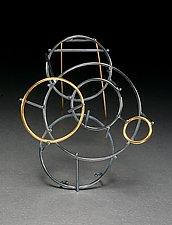 Orbit Pin by Ben Neubauer (Silver & Gold Earrings)