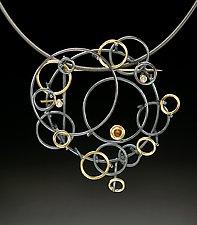 Eyelet Pendant by Ben Neubauer (Silver, Gold & Stone Pendant)