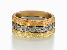 Timber Stacking Ring by Susan Barth (Gold Stacking Ring)