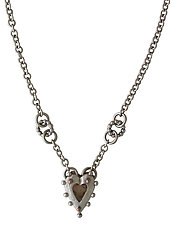 Shadow Rococo Heart by Thomas Mann (Silver & Bronze Pendant)