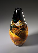 Genie Vase by Mark Rosenbaum (Art Glass Vase)