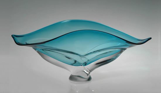 """Wave Bowl, Turquoise"""