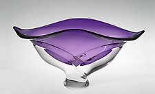 Wave Bowl, Violet by Ed Branson (Art Glass Vessel)