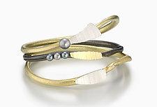 Pearl Twig Bangles by Christine MacKellar (Silver & Bimetal Bracelets)