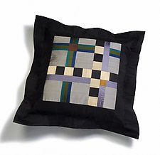 Cool Checks by Sonya Lee Barrington (Silk Pillow)