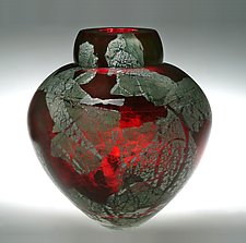 Gold Ruby Emperor Bowl by Randi Solin (Art Glass Vase)