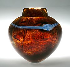 Earthtone Emperor Bowl by Randi Solin (Art Glass Vase)