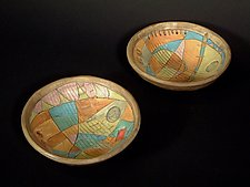 Time & Space Rice Bowls by Janine Sopp (Ceramic Vessels)