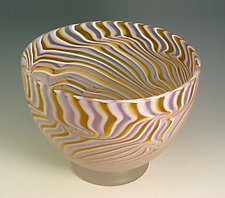 Ecru Bowl by Rene Culler (Art Glass Bowl)