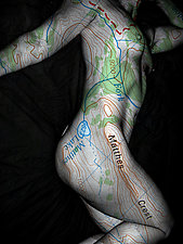 She is a Map by Michael Williams (Color Photograph)