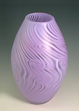 Neolavendar Smoke Olive by Rene Culler (Art Glass Vase)