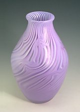 Neolavendar Smoke Onion by Rene Culler (Art Glass Vase)