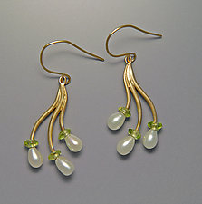 Branch Earrings by Ellen Vontillius (Gold & Pearl Earrings)