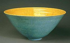 Blue Raku Bowl by Amber Archer (Ceramic Bowl)