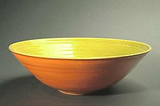 Lime & Orange Fruit Bowl by Amber Archer (Ceramic Bowl)