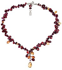 Garden of Garnets by Kathleen Lynagh (Beaded Necklace)