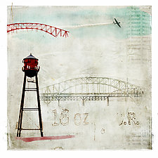 Red Tower by Pamela Viola (Giclee Print)
