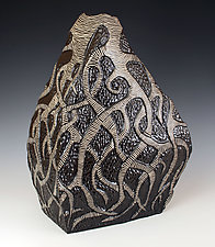 Roots Vessel by Larry Halvorsen (Ceramic Vessel)
