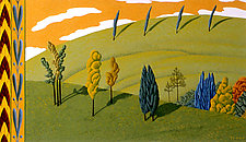Landscape with Caramel Sky by Jane Troup (Giclée Print)