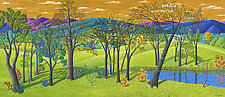 Landscape with Trees and Pond by Jane Troup (Giclée Print)