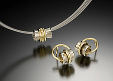 Orbit Pendant & Earrings by Gabriel Ofiesh (Gold & Stone Pendant)