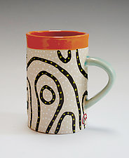 Blackline Mug by Vaughan Nelson (Ceramic Mug)