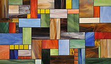 Patchwork by Gerald Davidson (Art Glass Wall Sculpture)