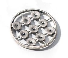 Circles in Motion Pin by Virginia Stevens (Silver Pin)