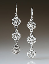 Triple Lace Circle Earrings by Sarah Richardson (Silver Earrings)