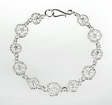 Lace Circle Bracelet by Sarah Richardson (Silver Bracelet)