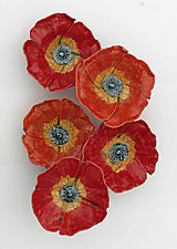 Poppy Field by Amy Meya (Ceramic Wall Sculpture)