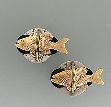 Fish Cuff Links by Thomas Mann (Metal Cuff Links)