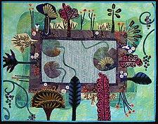 Water Garden in Semi Egyptian Style by Pamela Allen (Fiber Wall Art)
