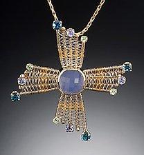 Thunderbird by Marie Scarpa (Gold & Stone Pin/Pendant)