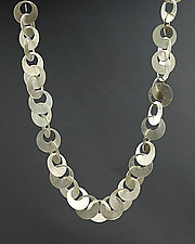 Interlocking Circles Necklace by Heather Guidero (Silver Necklace)