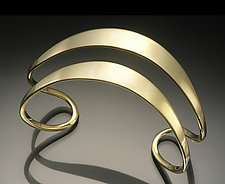 Flared Double Cuff by Stephen LeBlanc (Silver Cuff)