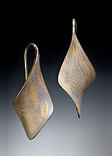 Anticlastic Twist Earrings by Stephen LeBlanc (Mokume Earrings)